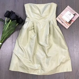 Ann Taylor Strapless Silk Chiffon A Line Dress